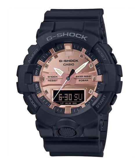 Relógio Casio G-shock Masculino Preto Rose Ga-800mmc-1adr