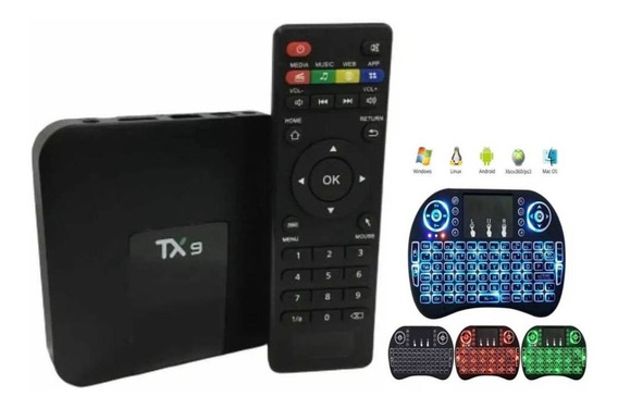 Smart Box Tx9 2gb / 16gb Bluetooth 8.1 Alice Ux Teclado Led