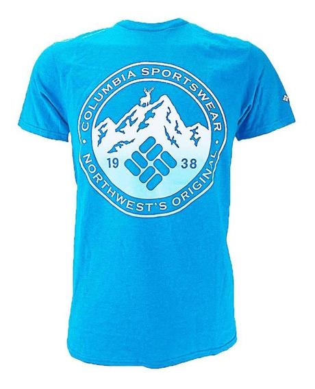 Playera Columbia M Stark S/s Mountain Blue