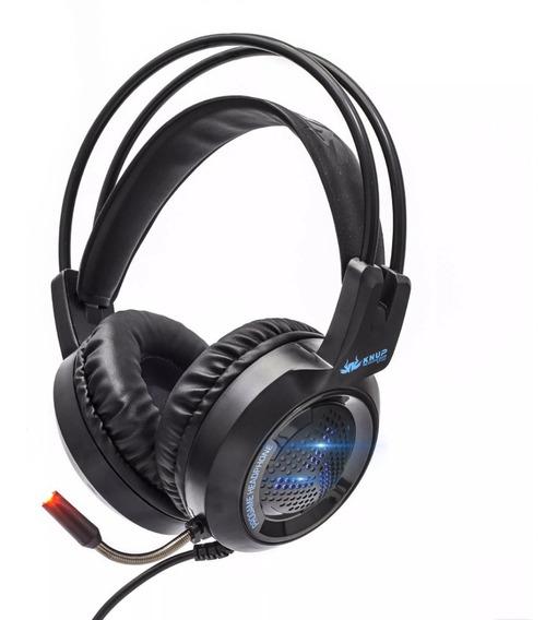 Fone Headset Gamer 7.1 Real Led Microfone Bass Nítido