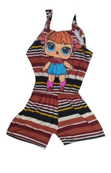 Kit Atacado 6 Macaquinho Feminino Infantil E Vestidos Personagens Menina