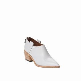 Botineta Catalina Blanca Prune Zapato Mujer
