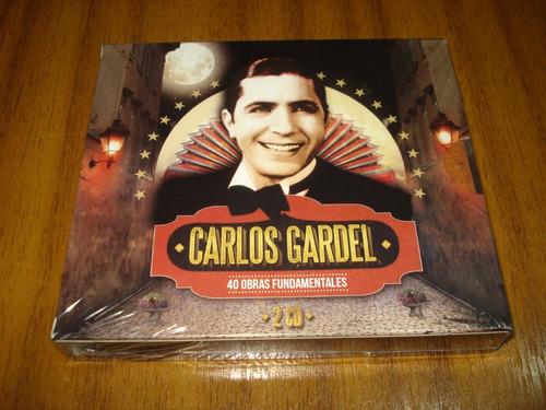 Box Carlos Gardel / 40 Grandes Exitos (nuevo Y Sellado) 2 Cd