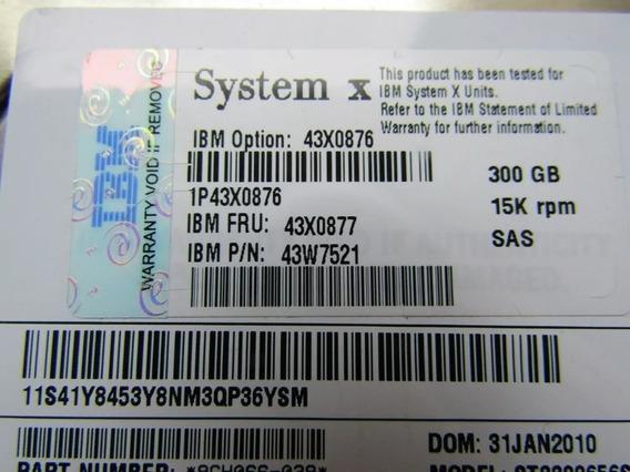 Hd Ibm Sas 300gb 3,5 15k Com Gaveta Original!!!