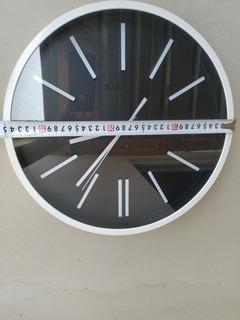 Reloj De Pared Redondo Moderno 36 Cms. Maquina Silenciosa