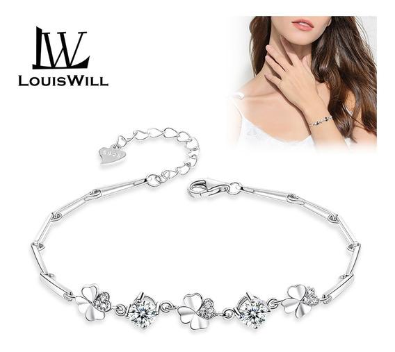 Louiswill Pulsera Para Mujer, Elegante, Cristal, Joyería Mu