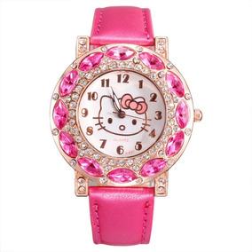 Relógio De Pulso Infantil Hello Kitty Adulto Promoção