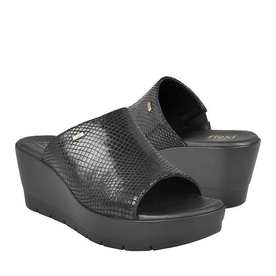 Sandalias Casuales Para Dama Flexi 44509 Negro