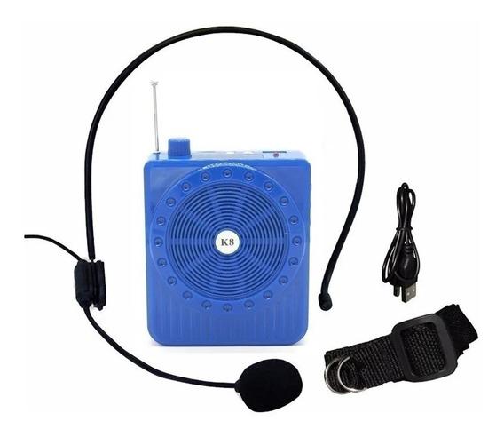 Megaphone K-150 Rádio Fm Microfone Usb Sd Amplificador Cores