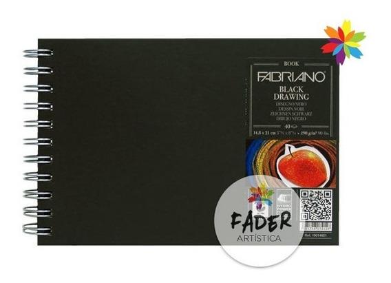 Block Fabriano Black Drawing 21 X29.7 Cm 40 Hojas 190 Grs