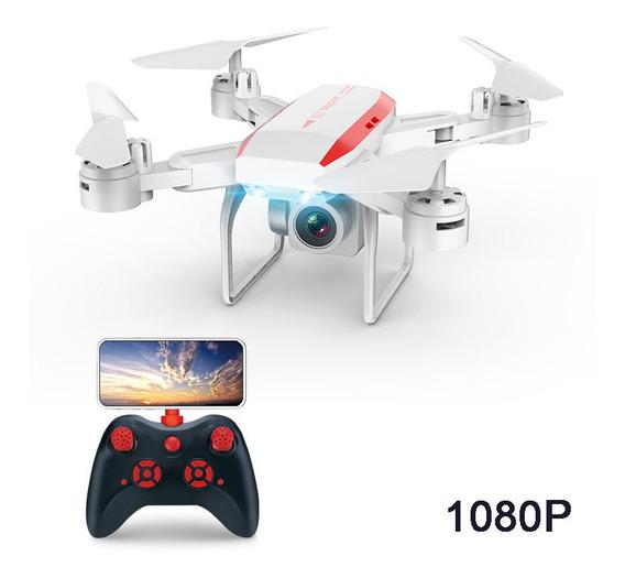 Drone Ky606d Hd Dobrável Zangão Rc Quadcopter 1080p Branco