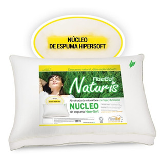 Almohada Fiberball Naturis 70x45 Vellon Con Nucleo Espuma