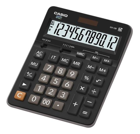 Calculadora De Escritorio Casio Gx-12b-bk Negro