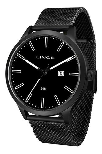 Relógio Lince Masculino Analógico Preto Mrn4494s