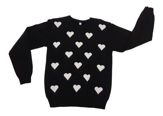 Pullover Sweter Nena Corazón Talle 4 Al 14