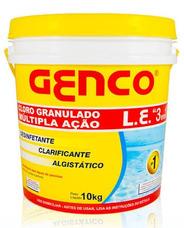 Genco L.e. Cloro Granulado Múltipla Ação 3x1 10kg Genco