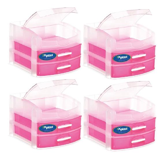 Kit Organizador Armário Banheiro Plastico 4 Un