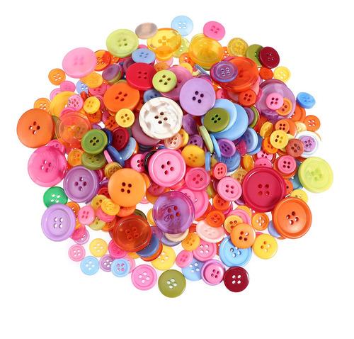 Imagen 1 de 8 de 600 Botones Básicos De Resina Redonda Botones Mezclados Con
