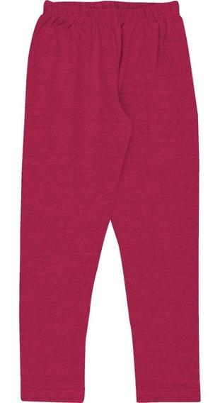 Calça Infantil Menina Calça Legging De Cotton Lisa Inverno