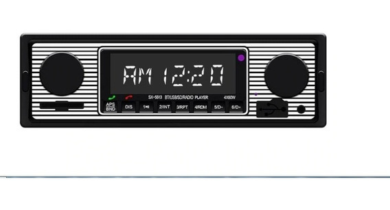 Rádio Retrô Antigo Vintage Usb Bluetooth Mp3 Carros Antigos