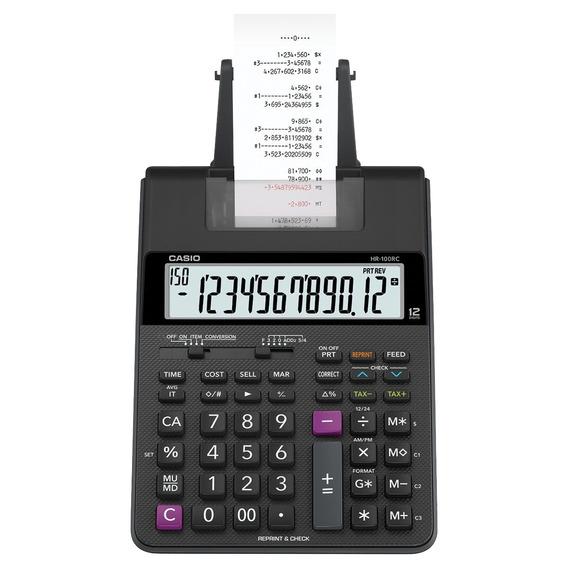 Calculadora 12 Dígitos C/ Bobina 2.0 Prta Hr100rcbkbdc Casio