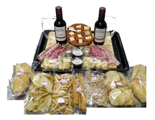 Imagen 1 de 8 de Picada A Domicilio C/vino Don Pascual + Tabla Regalo - (p/2)