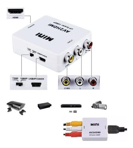 Adaptador Video Compuesto Stereo Input Rca A Hdmi Output