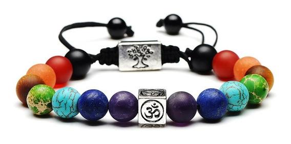 Pulseira 7 Chakras Yoga Reiki Simbolo Om