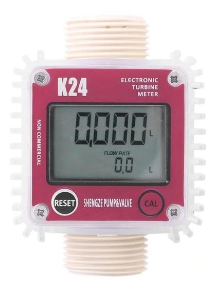 Medidor De Vazão Fluxo Digital K24 Sensor Óleo Gasolina Água