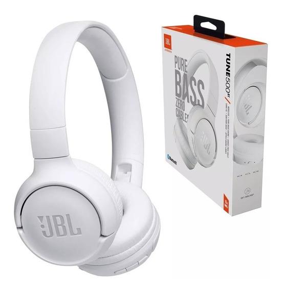 Fone Jbl T500bt Bluetooth Tune 500bt Garantia 1ano Nf+brinde