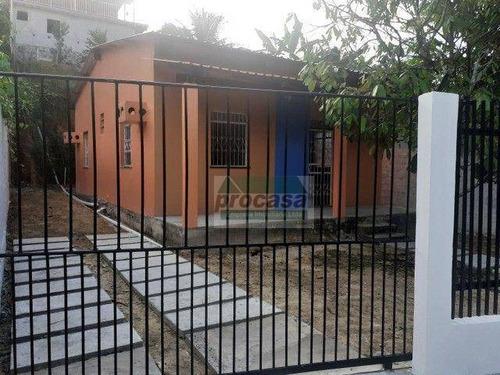 Imagem 1 de 5 de Casa Com 2 Dormitórios À Venda, 63 M² Por R$ 130.000 - Novo Aleixo - Manaus/am - Ca4306