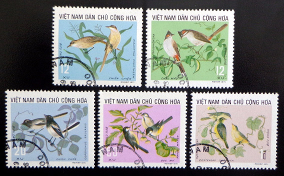 Vietnam Aves, Serie Sc 702-06 1973 Usada L10049