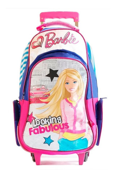 Mochila Barbie Looking Fabulous Carro 22 Pulgadas