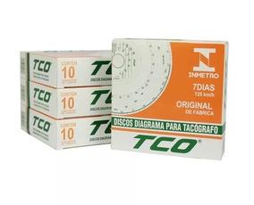 Disco Tacógrafo Tco Semanal 125km 10 Caixas