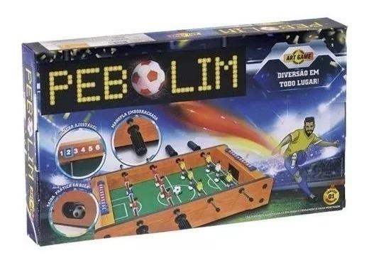 Mini Mesa De Pebolim Jogo Mdf Futebol 12 Jogadores Compacto
