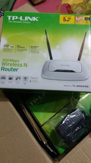 Roteador Tp-link 300mbps Com 2 Antenas. Antena De 5 Bdi.
