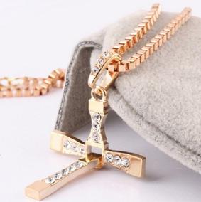 Colar Cruz Crucifixo Dourado Masculino Velozes E Furiosos