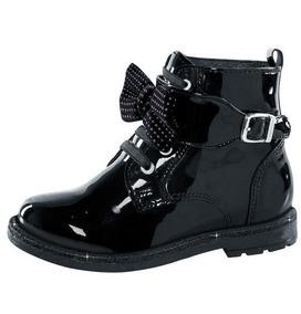 Zapato Para Peque Girl Negro Tipo Charol Cool