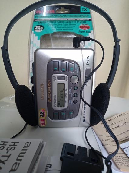 Walkman Aiwa Tx476 Com Super Bass Novo