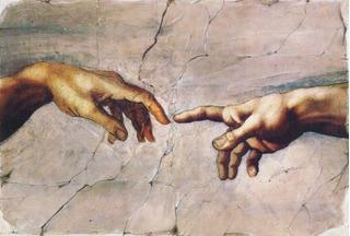 Cuadro En Tela, La Creación De Adán, Miguel Angel, 100x143cm