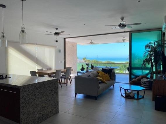 Casa Frente Al Mar En Venta Planta Alta Amueblada - San Bruno - Yucatán