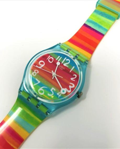 Reloj Swatch De Colores Plastico