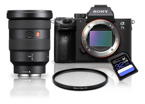 Kit Sony A7iii + Fe 16-35mm Gm + Uv 82mm + Sdxc 32gb A7miii / A73 / A7m3 / A7 Mark3 / A7 Iii / Ilce-7iii
