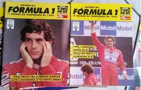 Lote De Revistas História Da Fórmula1-ayrton Senna 1988/1991