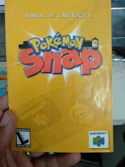 Manual Game Pokemon Snap 64 N64 Nintendo 64 Raro