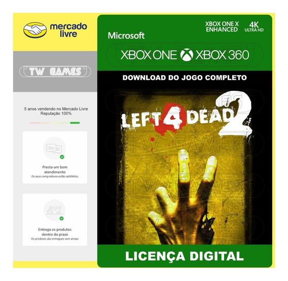 Left 4 Dead 2 L4d2 Digital Retro Xbox One Xbox 360