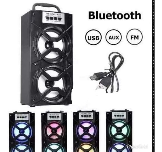 Caixa De Som Amplificada Bluetooth Usb Mp3 Cartao De Memoria Am-fm