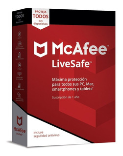 Antivirus Mcafee Livesafe 2019 Unlimited Devices 1 Año