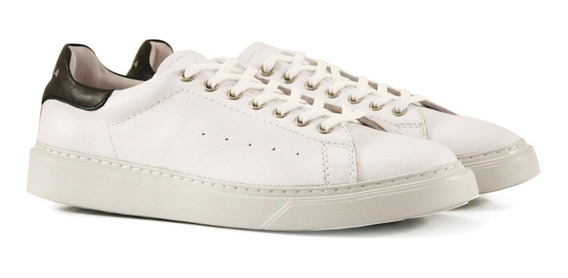 Zapatillas Urbanas De Cuero Blanco