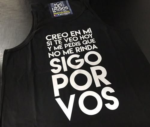 Musculosa Callejeros Cjs Don Osvaldo Rock Frases